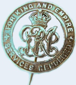 """The """"Silver Badge,"""" given to all returning veterans became the badge of theBritish National Federation of Discharged and Demobilized Sailors and Soldiers"""