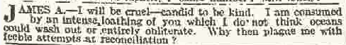 The articulate and colourful 1914 equivalent of being dumped by text