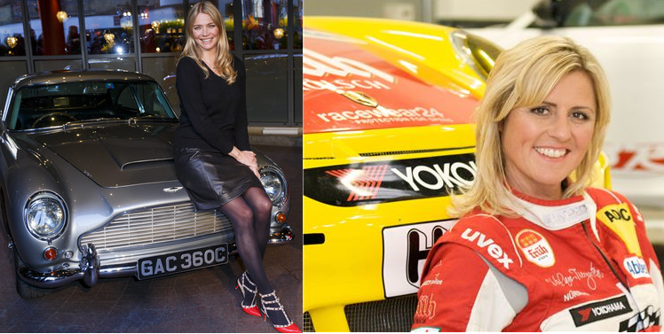 Jodie Kidd from the Classic Car Show and Sabine Schmitz from the German Top Gear