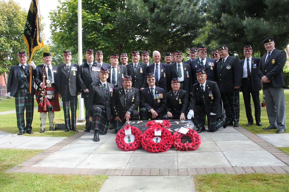 RHF Veterans visit the Memorial Garden to remember members of the 1st Bn killed in NI