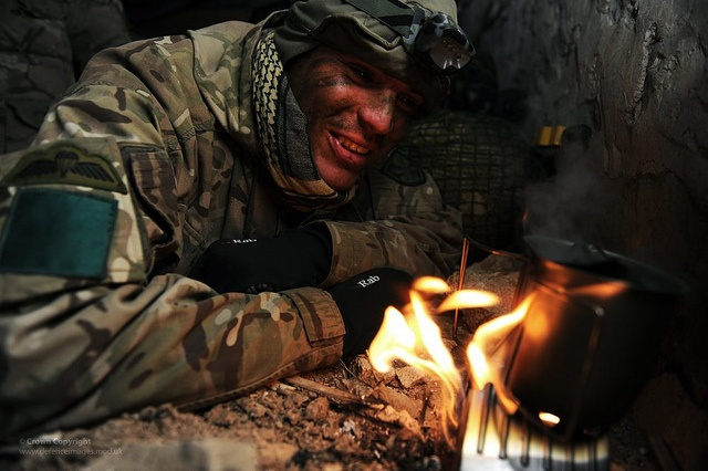The British Soldier; Able to ruin a bad guys day and make a brew, anytime - anywhere.