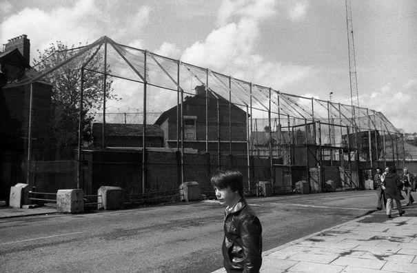 Andersonstown RUC Station before it was remodelled by PIRA.