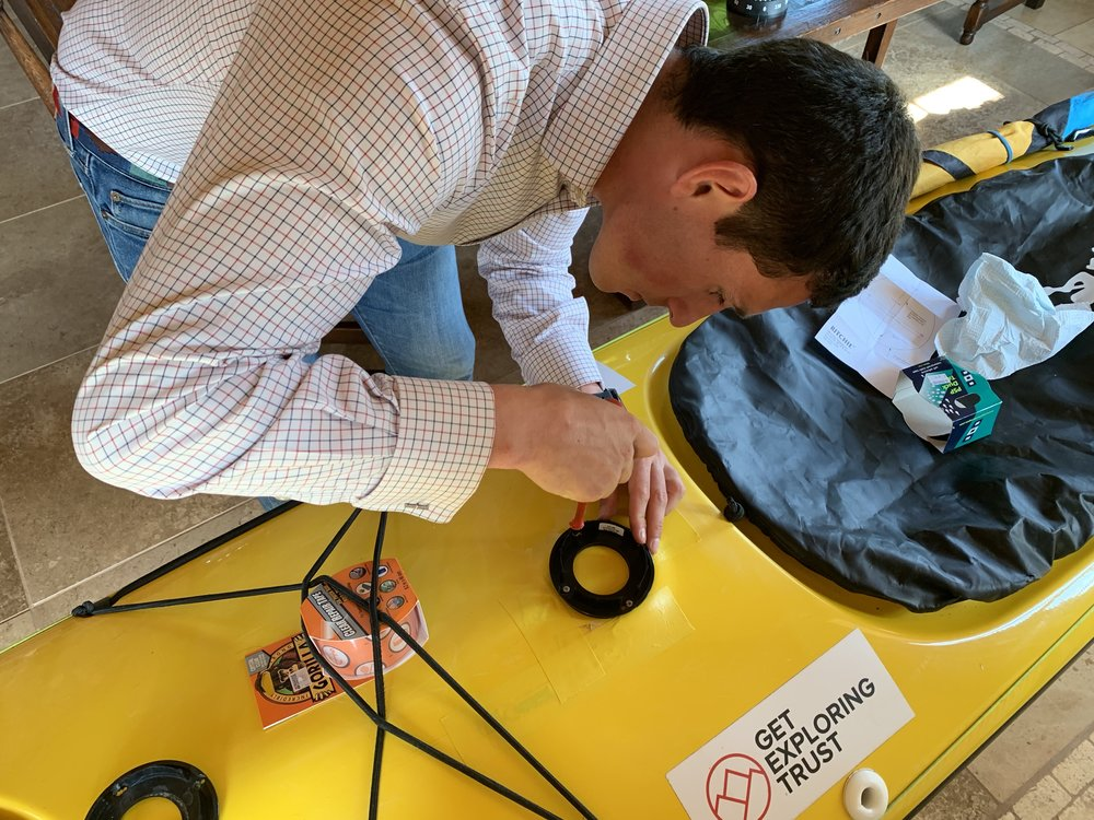 Late replacement compass job……. Gorilla Tape?