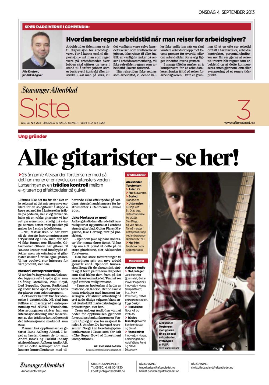 Aalberg Audio i Stavanger Aftenblad.png