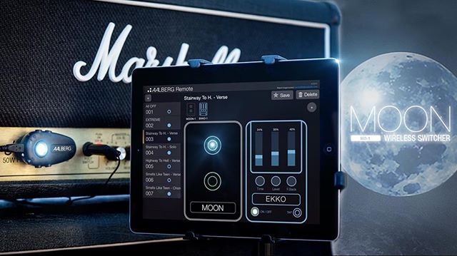 NOW LIVE ON KICKSTARTER: MOON Wireless Switcher - Control ALL your guitar gear wirelessly!  Act fast to get the early bird discount - $99 for a MOON bundle!  Kickstarter link in profile!  #electricguitar #guitar #amp #amplifier #marshall #app #norway #madeinnorway #knowyourtone #geartalk #gearporn
