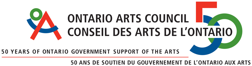Thank you to Ontario Arts Council for their continued support.