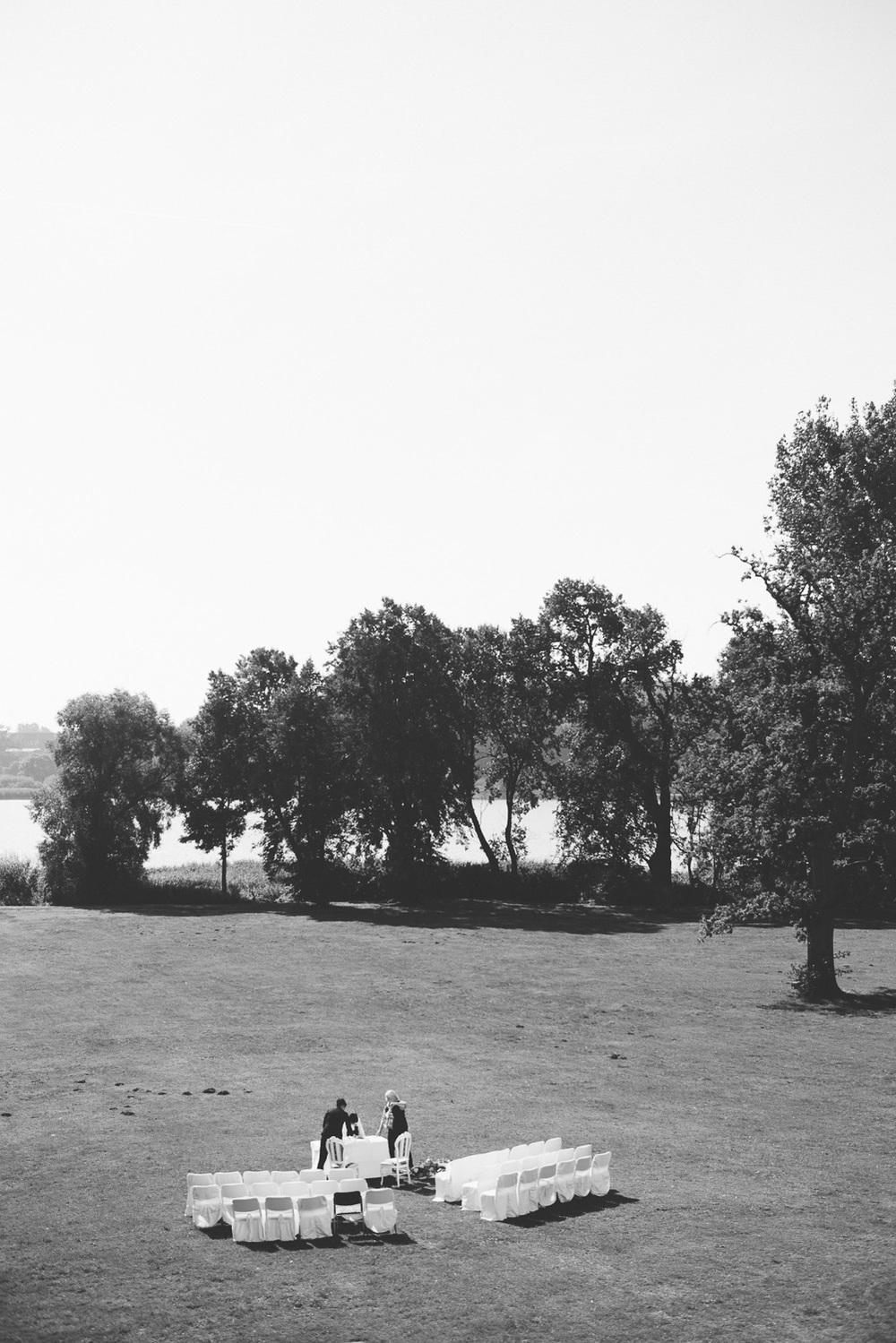 Trauung im Park Schloss Wedendorf