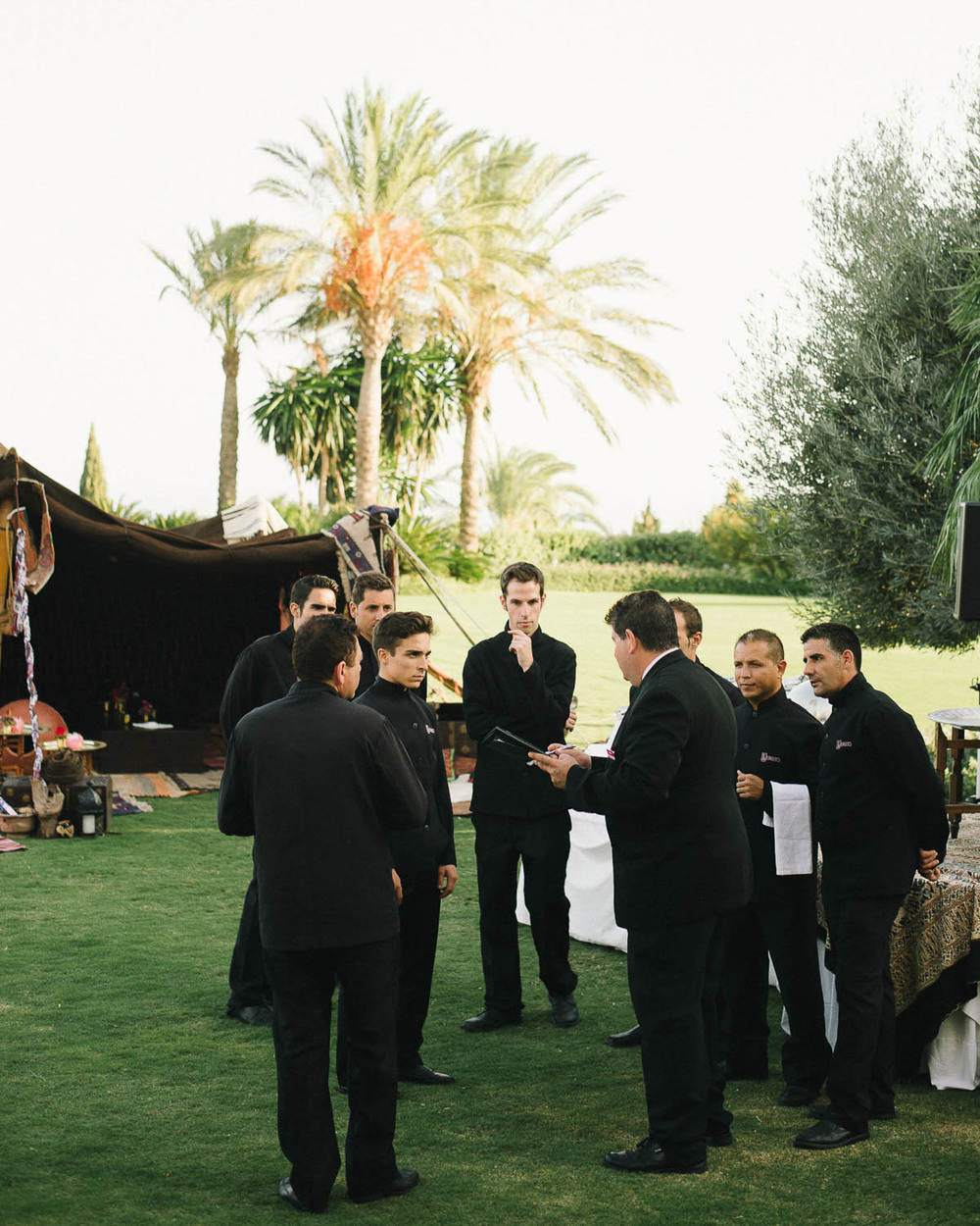 Waiters Catering Wedding Spain
