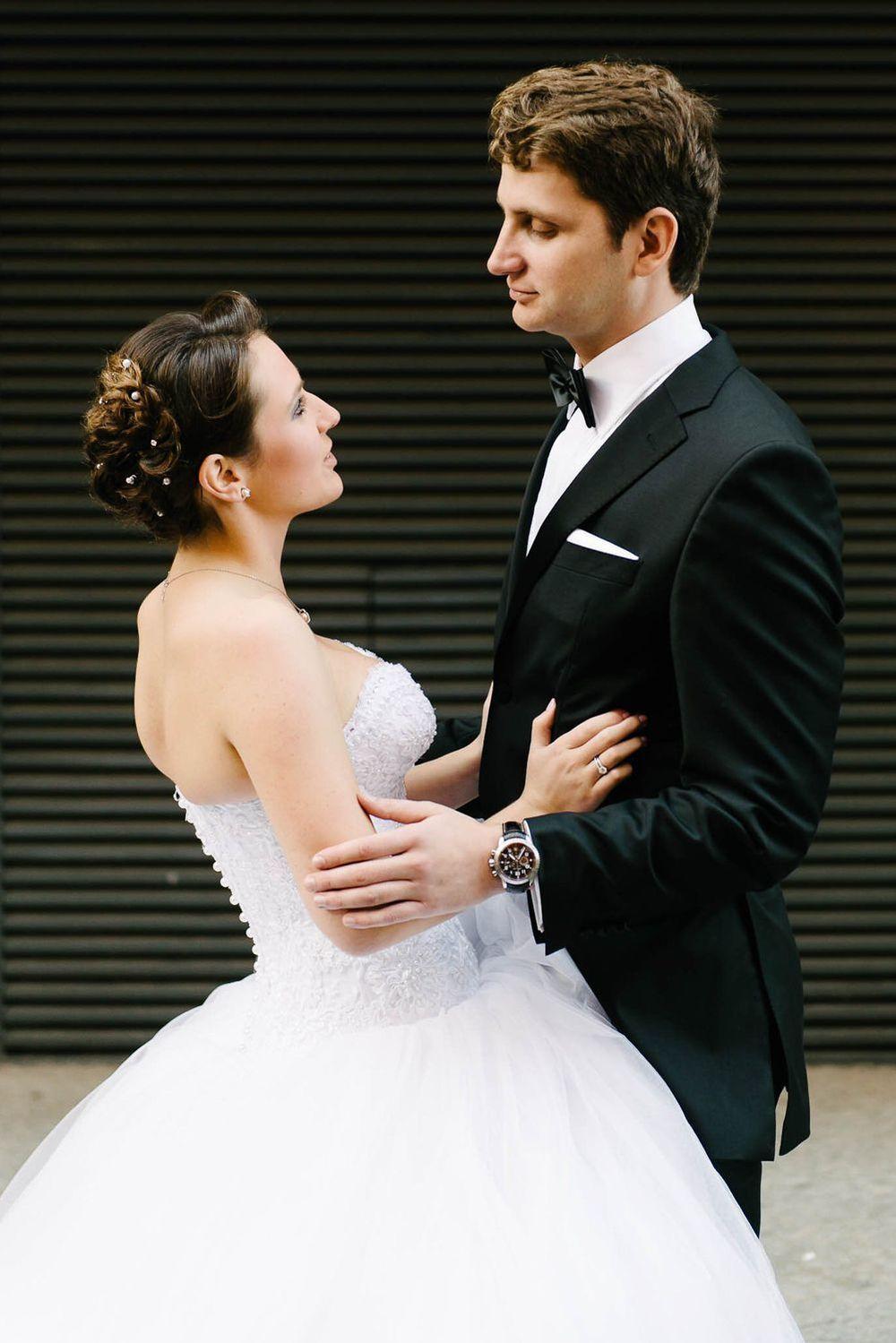 russisches Brautpaar im Glück