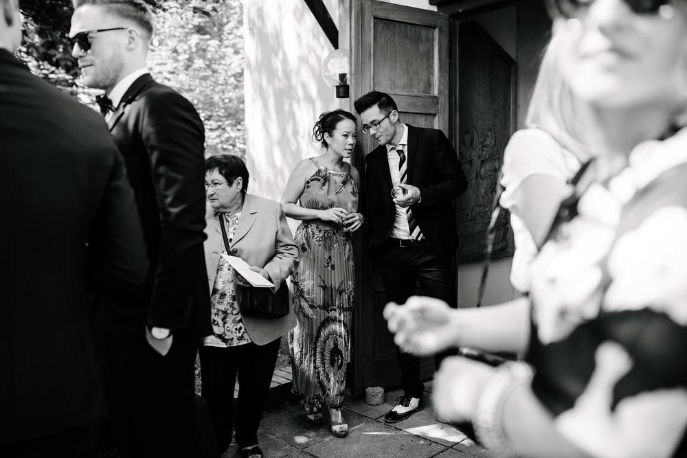Asiatische Hochzeitsgäste Empfang Hochzeit Rostocker Fotograf in Augsburg