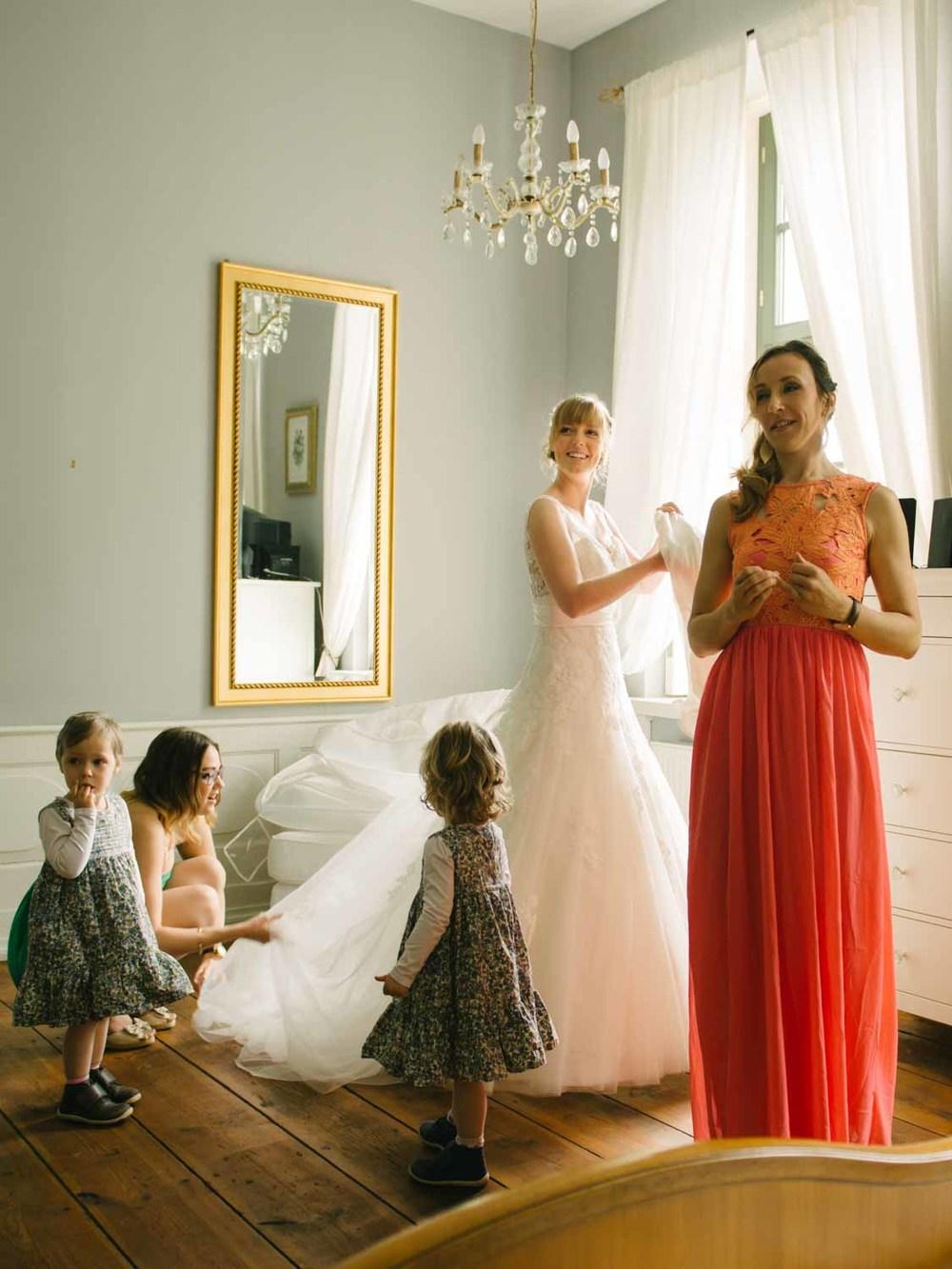 Hochzeitsfotograf Rostock - Brautkleid