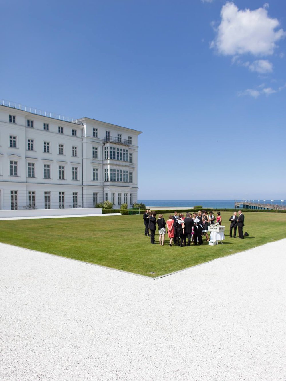 Innenhof Hochzeit Wedding Grand Hotel Heiligendamm