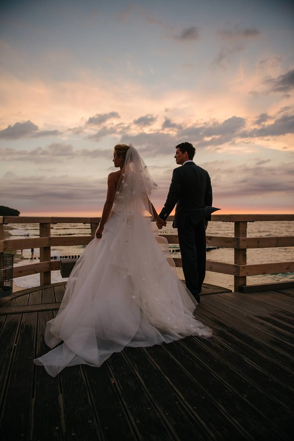 Brautpaar Sonnenuntergang Hochzeit Wedding Grand Hotel Heiligend