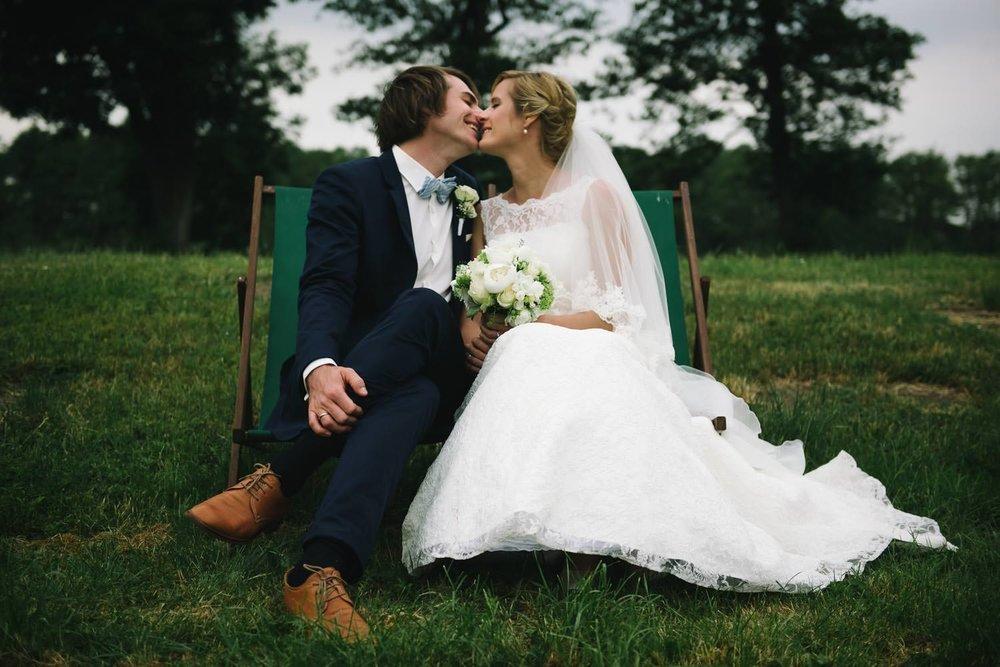Brautpaar im Schlosspark Ulrichshusen