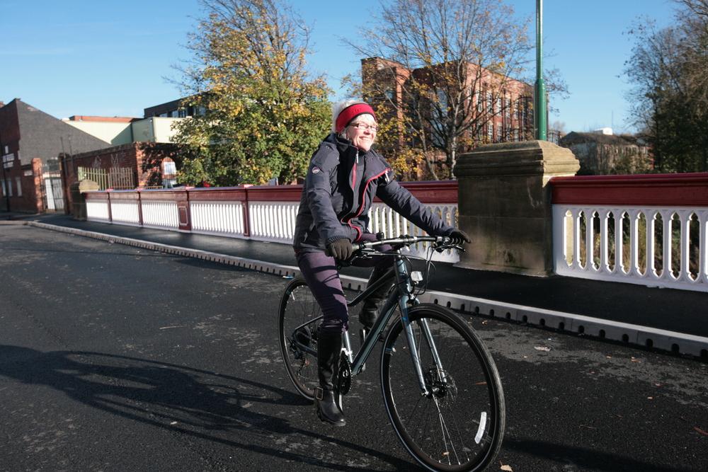 Inner city cycling around Sheffield