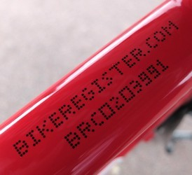 Bike Register Marking