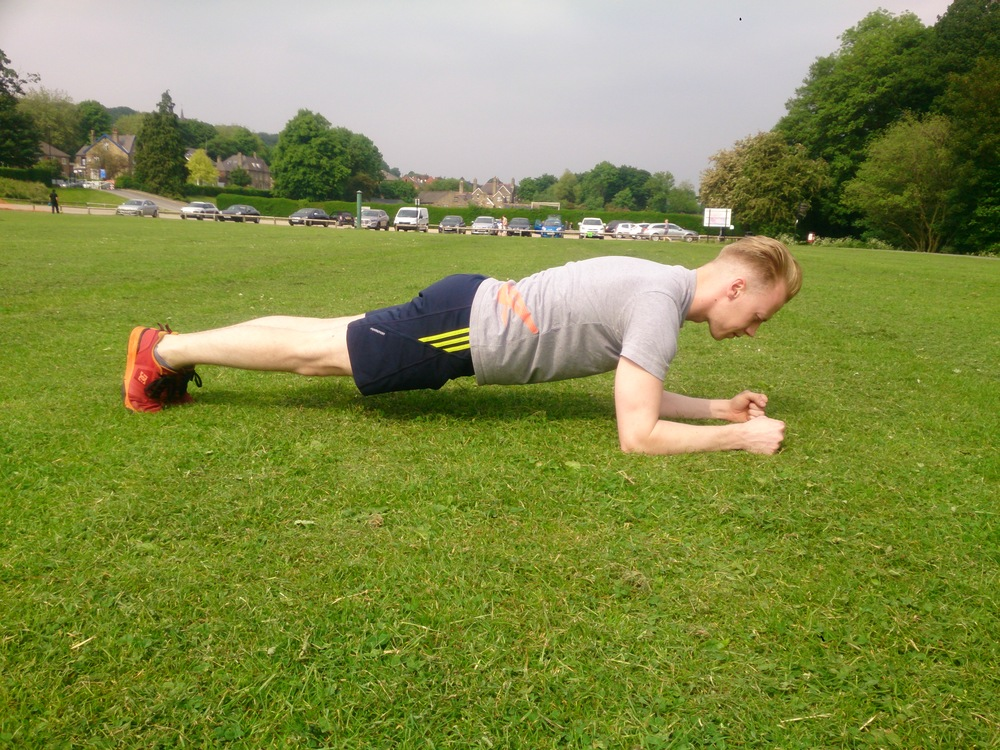 5. The Plank - hold for 30 secs