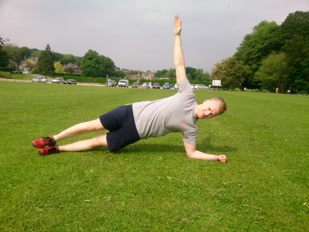 6. Side Plank - 30 secs each side