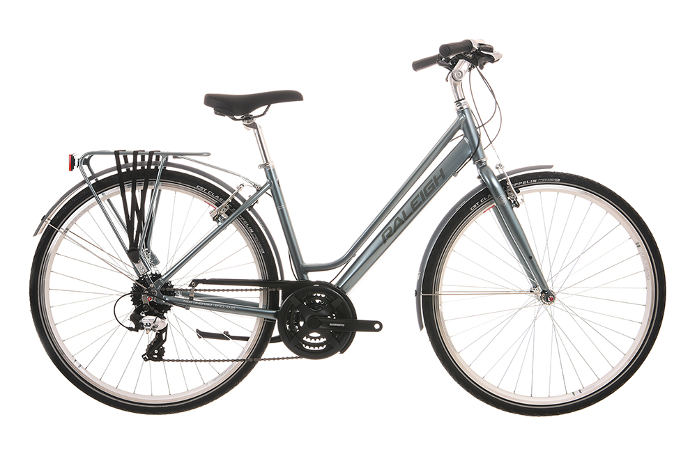 Our new Raleigh Pioneer 2 hire bikes look like this. These are great for people who are looking for comfort over speed.