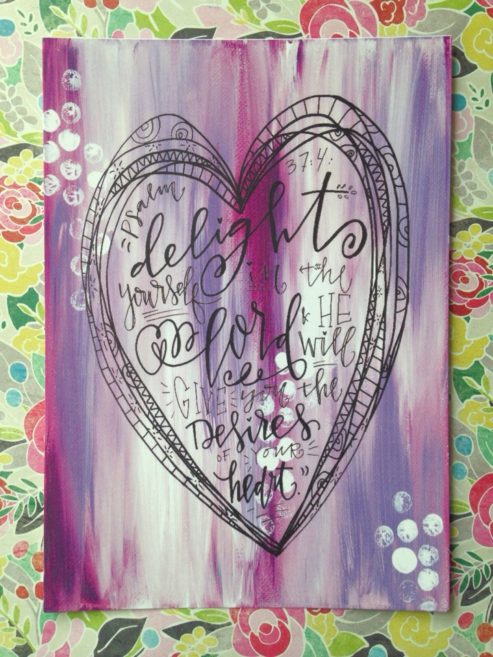 """Desire's of Your Heart"" Canvas Art Print"