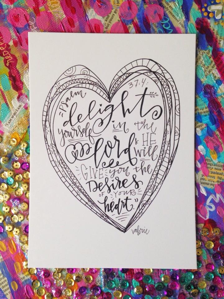"""""""Desire's of Your Heart"""" Art Print"""