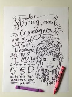 Girl Scripture Coloring Book (INSTANT PRINTABLE) — Valerie Wieners Art