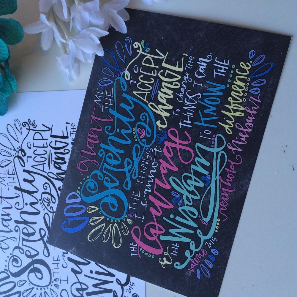 Quot Serenity Prayer Quot Art Print Valerie Wieners Art