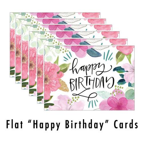 Flat Happy Birthday Card Set Valerie Wieners Art