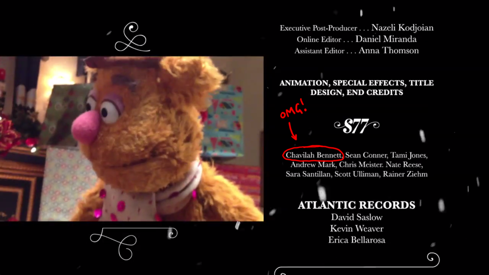 My name in the credits!