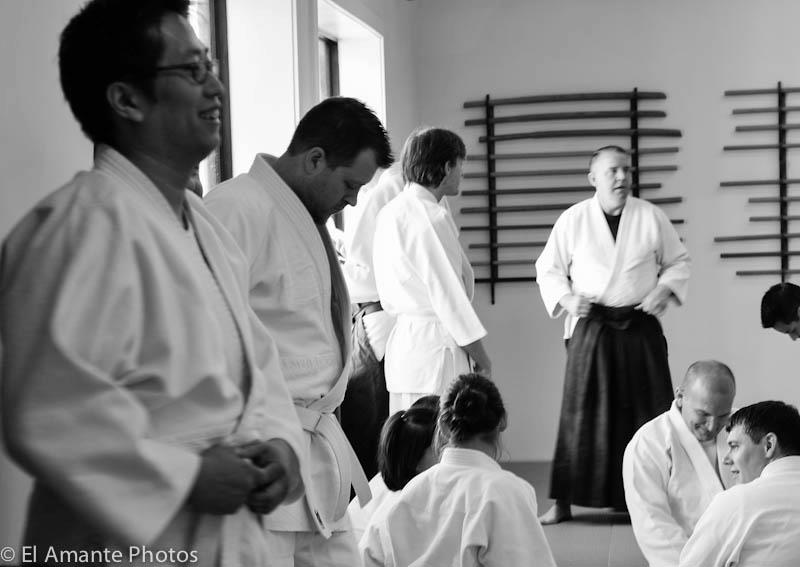 Potomac Aikikai members on test day. (photo by Ed Santos)