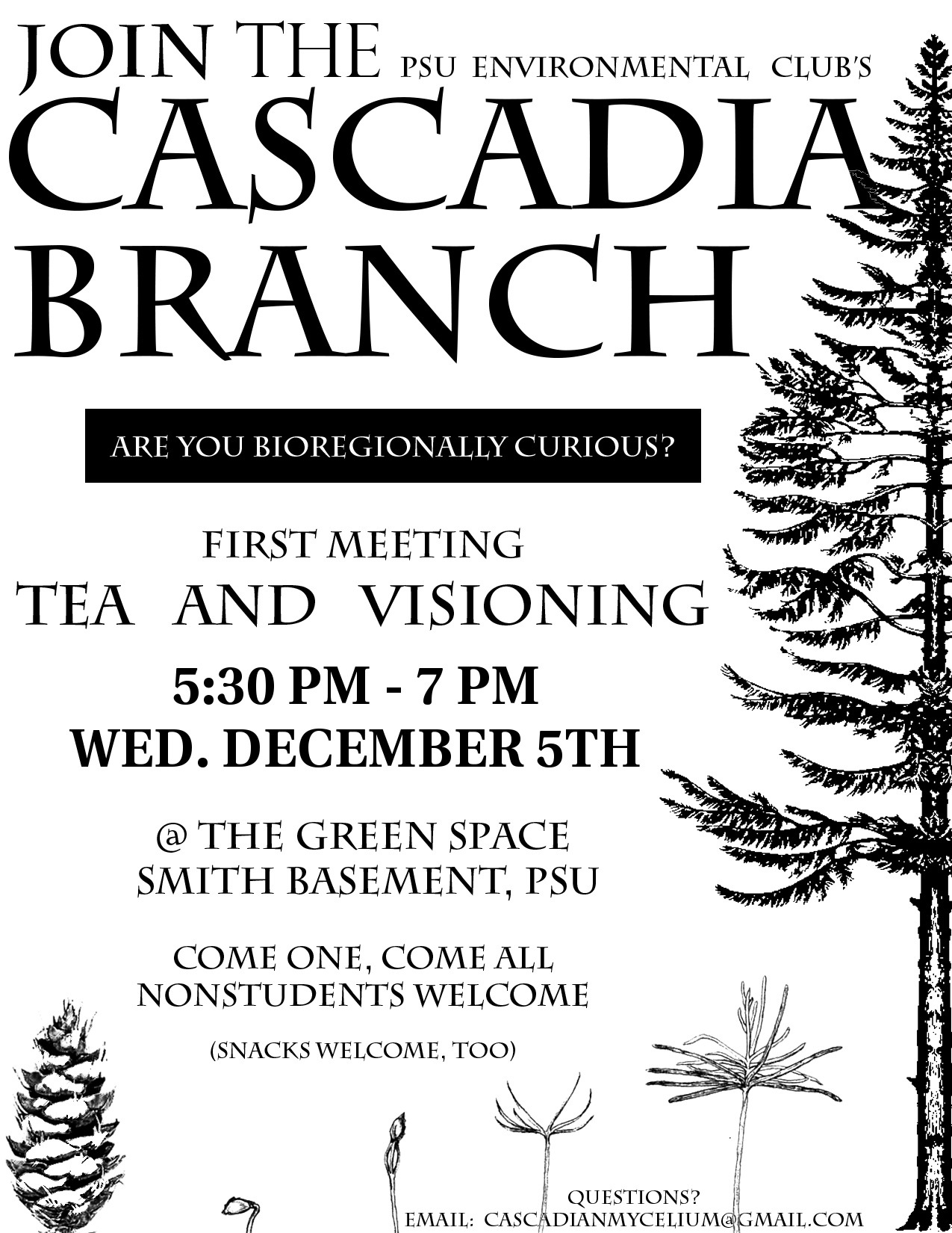 Portland Cascadia Meeting Flyer