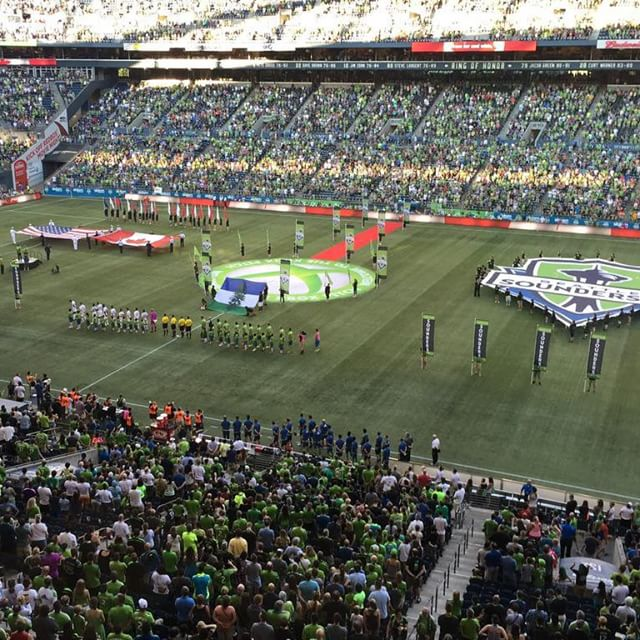 Cascadia Doug on Display for Opening Ceremony of CascadiaCup Match