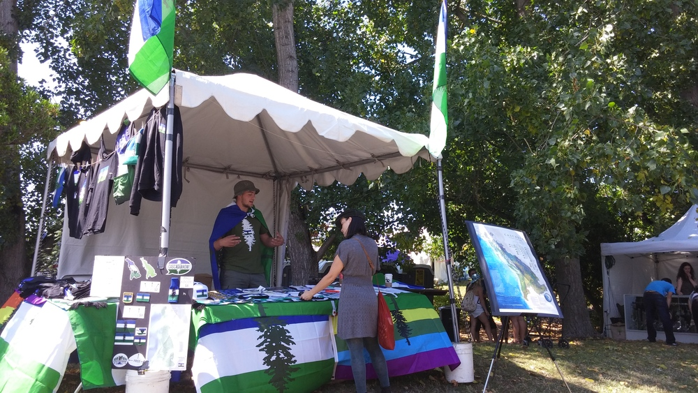 CascadiaNow table at Seattle Hempfest
