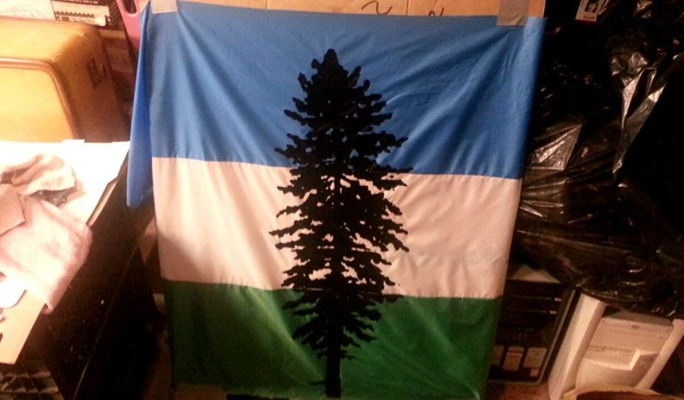First flag created by Cascadia flag coop!