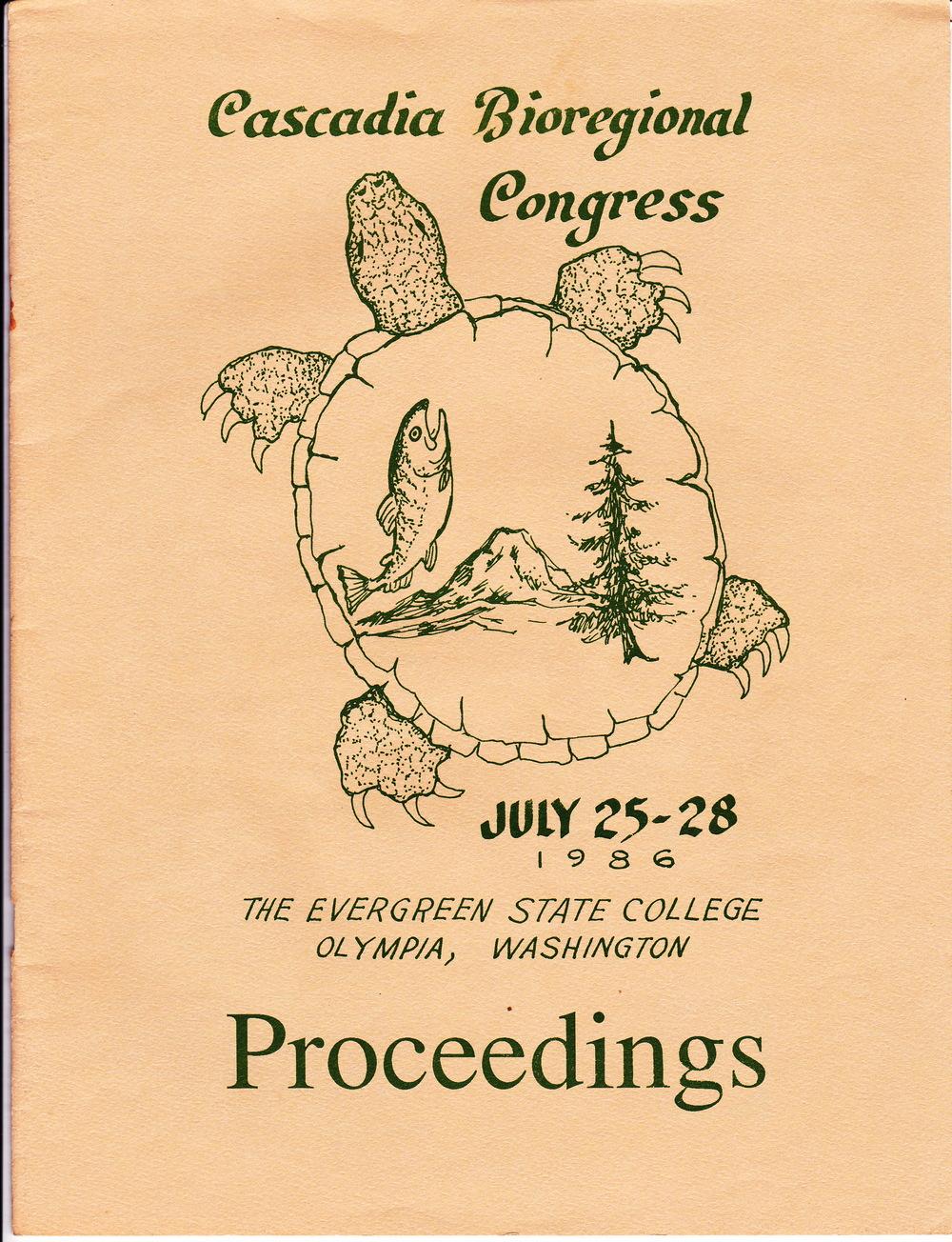 Cascadia Bioregional Congress 1986