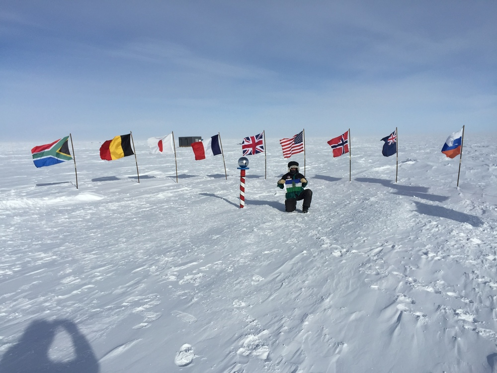 Too Cool! Cascadia Flag at the South Pole, Antartica