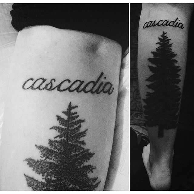 Beautiful Cascadia Tattoo