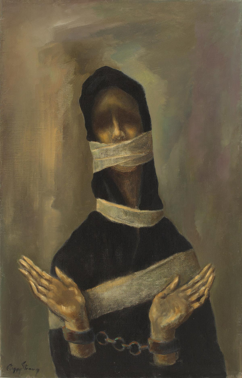 Peggy Strong, Untitled (Woman with Shackles), ca. 1948. Oil on canvas