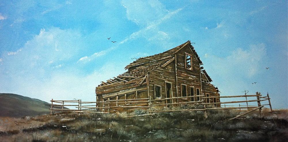 Old House Nr. Oliver BC. Acrylic 12_ x 24_.JPG