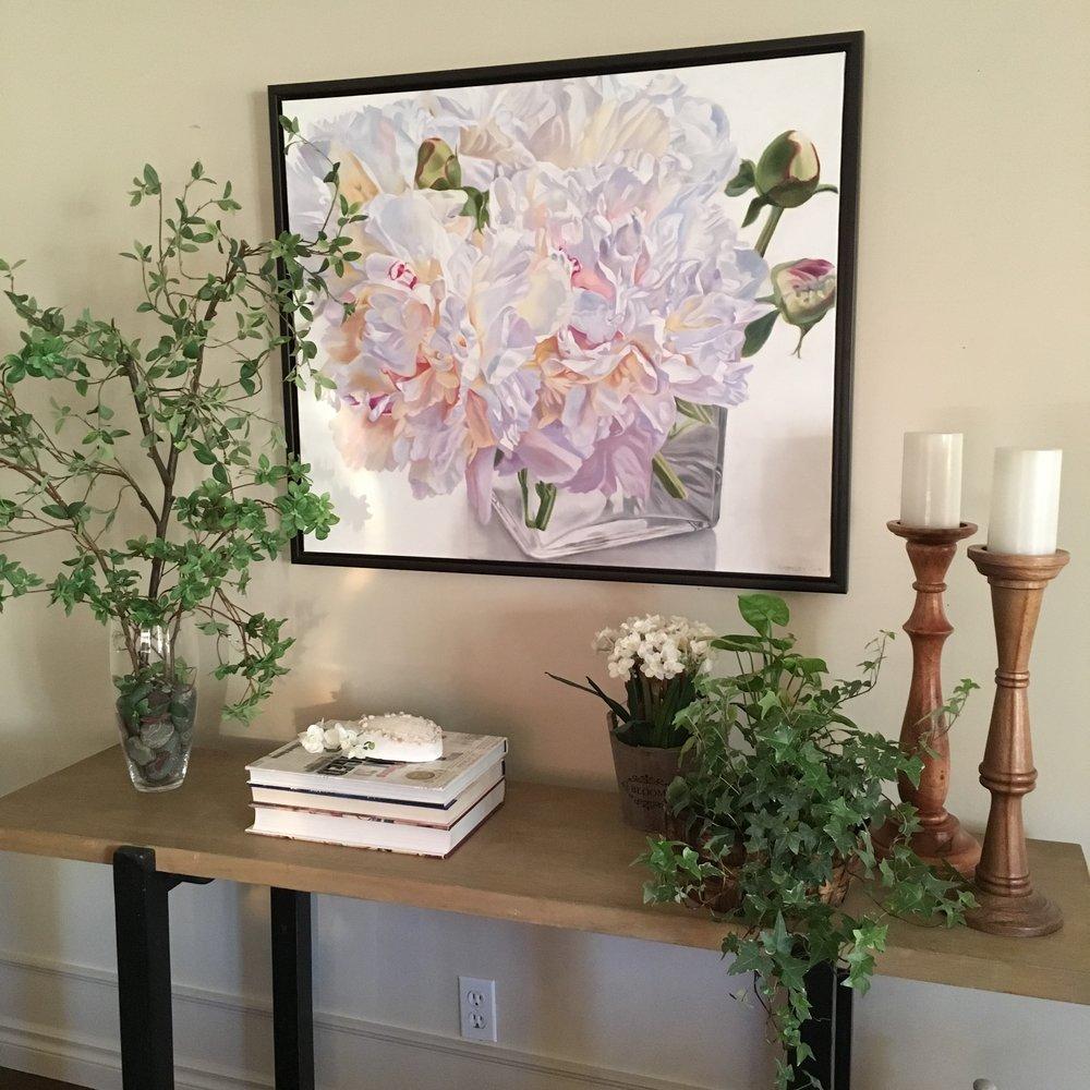 White Peony- Pastel Pair on wall 1 - small.JPG
