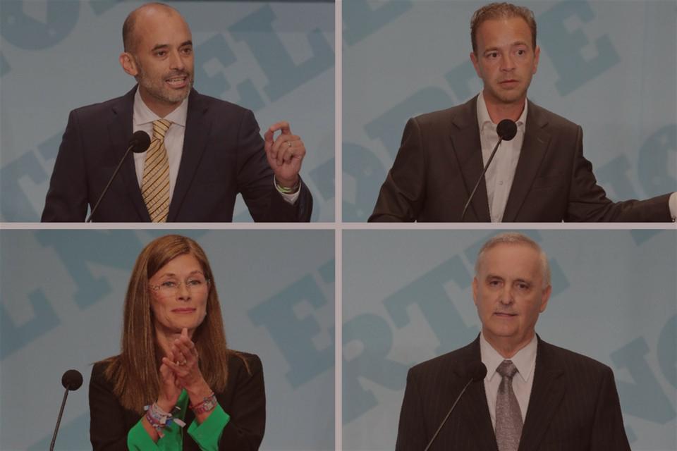 Los cuatro punteros en el debate organizado por  El Norte  [Foto:  El Norte ]