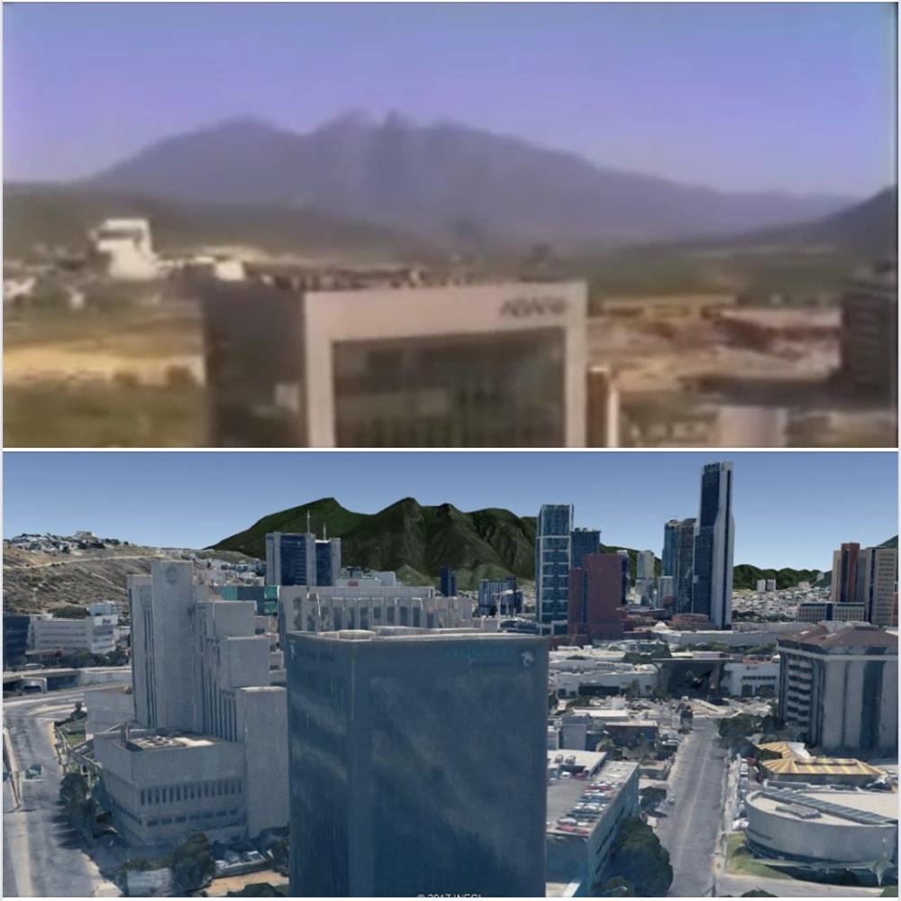 """De """"rancho""""   a  rancho asfáltico . Comparativa publicada en el Fb de  SkyscraperCity Monterrey ."""