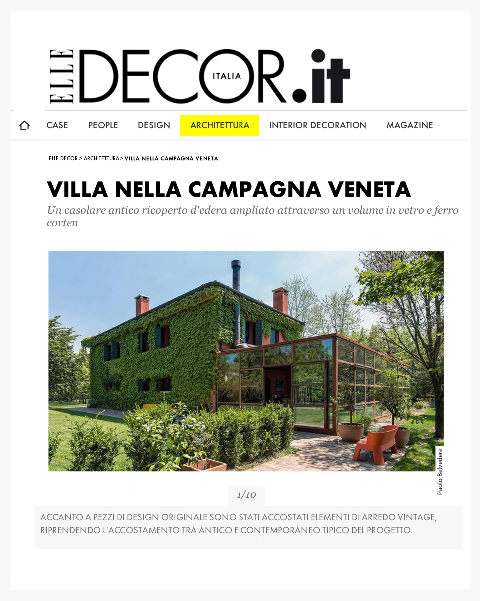 elledecor.it - april 30th 2014 - private villa featured project