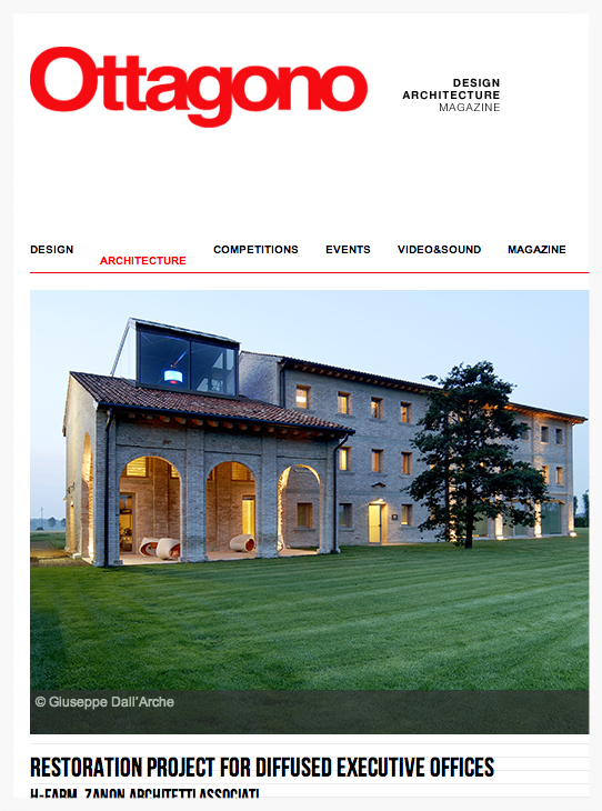 ottagono magazine on line -january 2014 - h-farm 'restoration project for diffused executive offices'