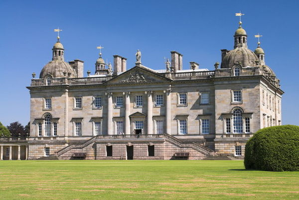 Front facade of Houghton Hall, restored in 2007