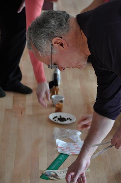 Brian working on installation