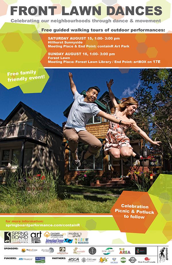 2015 Front Lawn Dances poster
