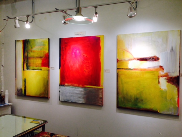 ARTspot owner Tracy Felix's 3' x 4' paintings. You can work big or small.... or mid-size. Just Do It!