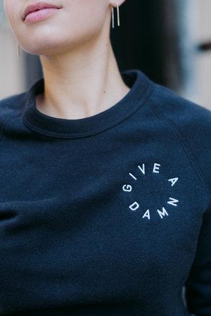 Give A Damn Sweatshirt Tomboy Design Co