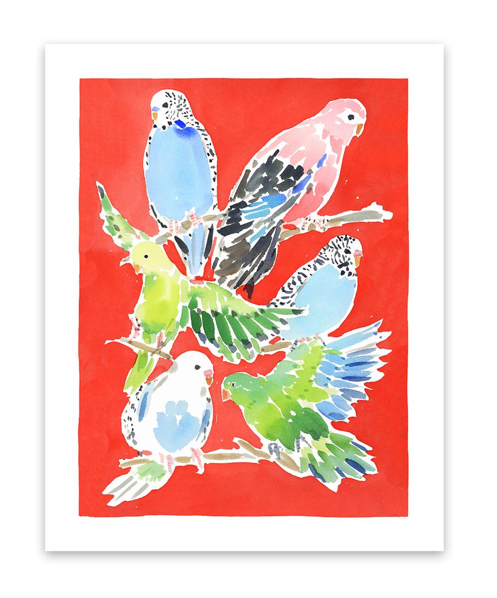 caitlin mcgauley birds print the market studio four nyc